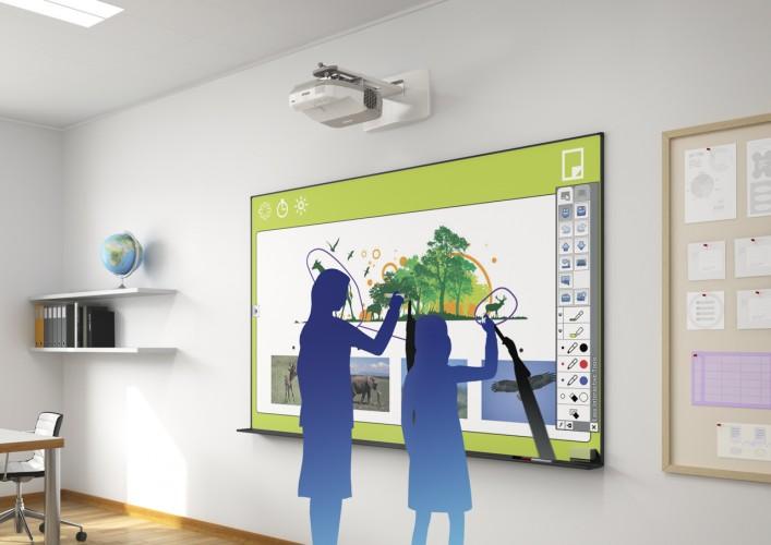 Interactieve projectoren in het onderwijs