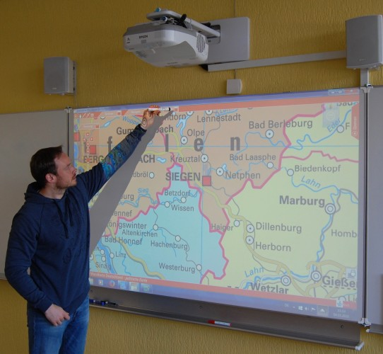 Epson projectors help Burbach school make lessons interactive