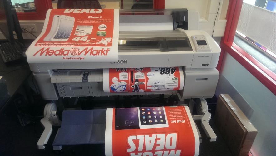 Media Markt Rood met de Epson SureColor SC-T5200