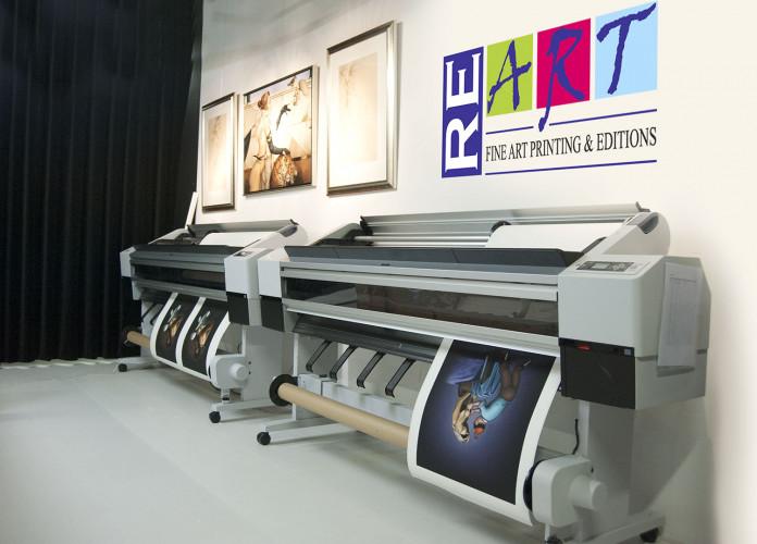Re-Art lager høykvalitets reproduksjoner av kunstverk med Epson-skrivere