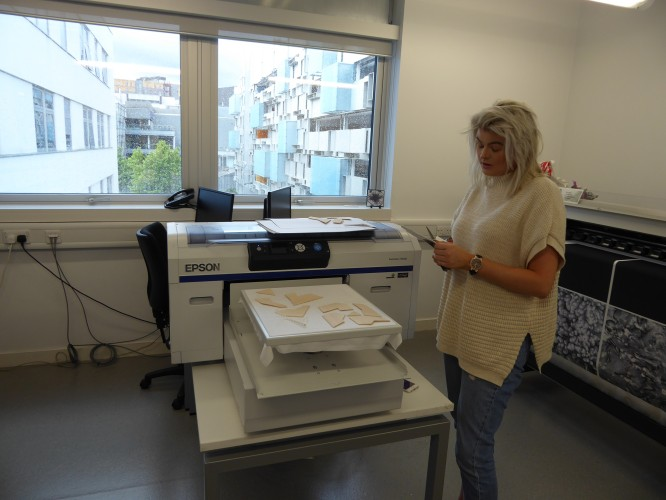 Textile Design student uses SureColor DTG printer
