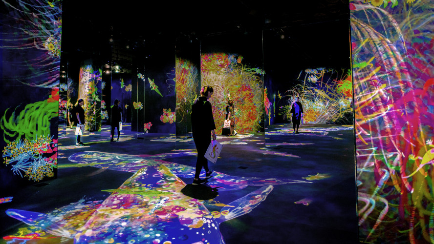 World leading projector manufacturer Epson chosen to provide contemporary new museum in Finland with immersive art experience from Japanese art collective teamLab