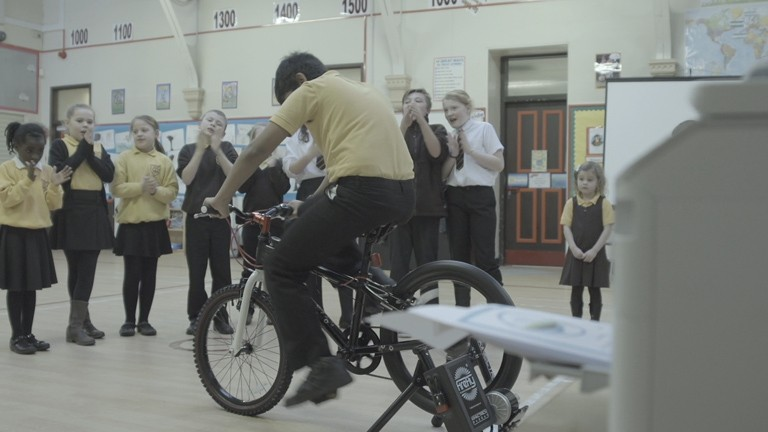 Dumfries and Galloway Council leads low-carbon crusade in Scottish education with push-bike powered printers