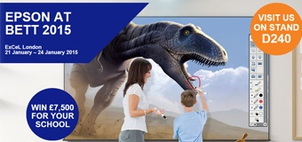 """Epson challenges schools to """"Exceed Their Vision"""" at BETT 2015"""