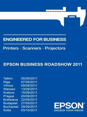 Epson startuje Roadshow 2011 po zemích střední a východní Evropy,  na které představí produkty pro nadcházející období