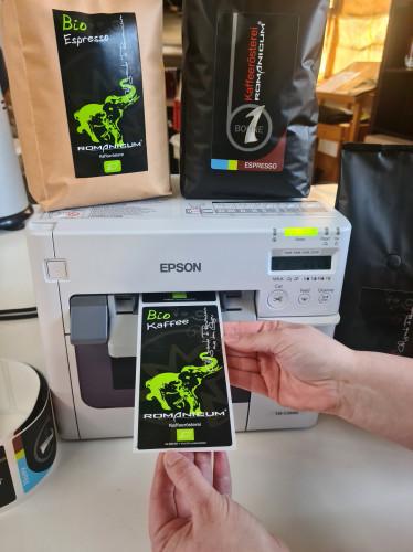 Kaffeerösterei Romanicum setzt auf Epson ColorWorks