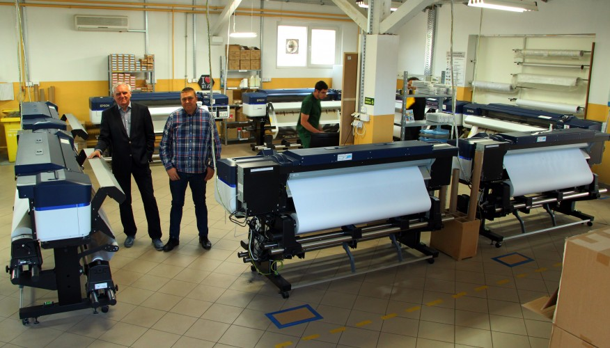 FUD-MEN nově využívá ktisku na plátno inkoustové tiskárny SureColor SC-S