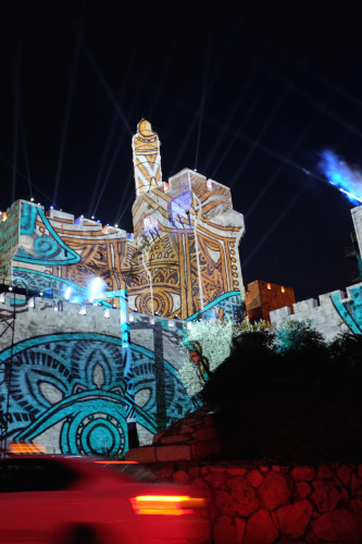 Epson samarbetar med AVS för att projicera en enorm ljusshow på väggarna i Gamla Staden i Jerusalem