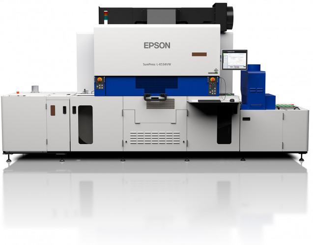 La nouvelle SurePress L-6534VW d'Epson imprime jusqu'à 50mètres par minute