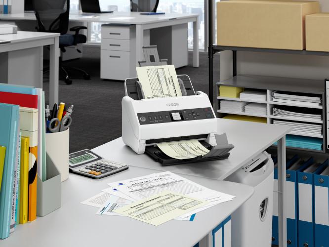 Der neue Epson DIN A4 Netzwerkscanner schafft Ordnung im Büro