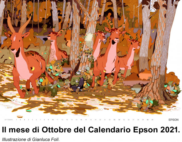 Importanti premi e riconoscimenti per Gianluca Folì  con il Calendario Epson 2021