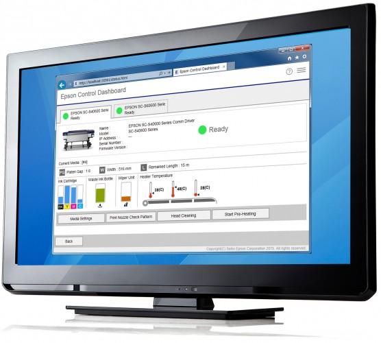 Epson Control Dashboard: innovadora solución a través de navegador para impresoras de gran formato SureColor SC-S