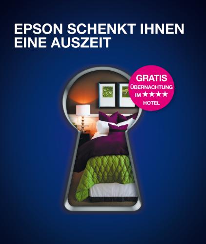 Auszeit mit Epson: Drucker kaufen und gratis übernachten