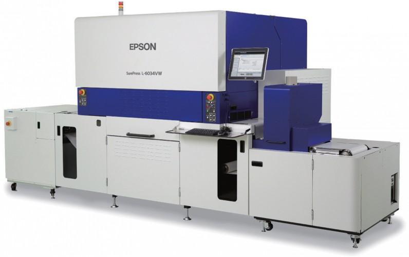 Neue Epson Etikettendruckmaschine mit UV-Tinten