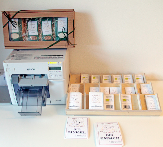 Umweltfreundliche Etiketten für den Biobauernhof