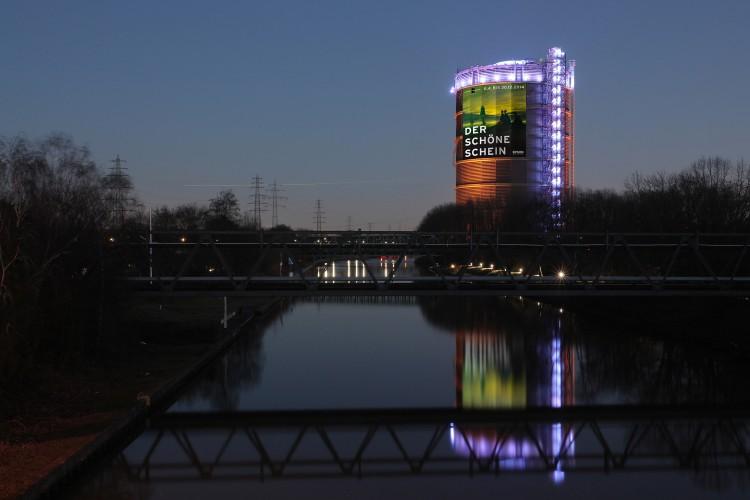 """Epson Projektoren: """"320° Licht"""" – Künstlergruppe Urbanscreen zeigt Installation im Gasometer Oberhausen"""