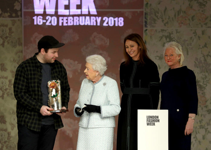 Richard Quinn receives inaugural Queen Elizabeth II Award for British Design at London Fashion Week