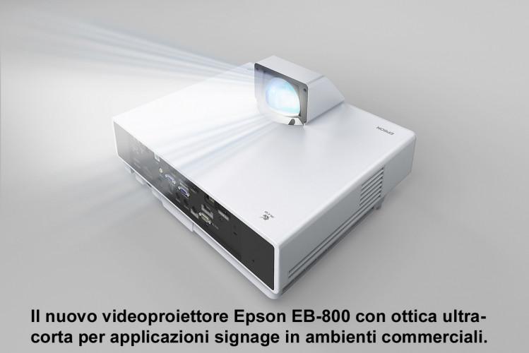 Epson amplia la gamma di videoproiettori  per il digital signage