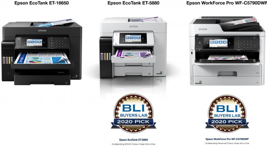 Epson consigue tres reconocimientos en los premios Keypoint Intelligence - Buyers Lab Summer 2020 Pick Awards