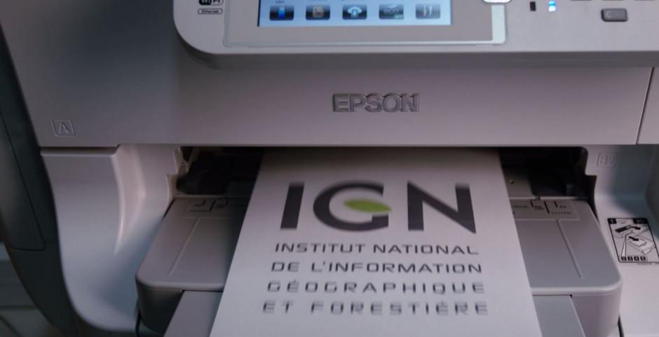 L'IGN choisit les solutions d'impression jet d'encre EPSON