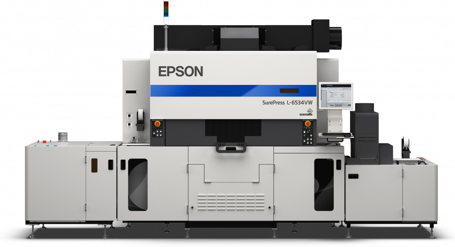 Epson's new SurePress L-6534VW reaches print speeds of up to 50 meters per minute
