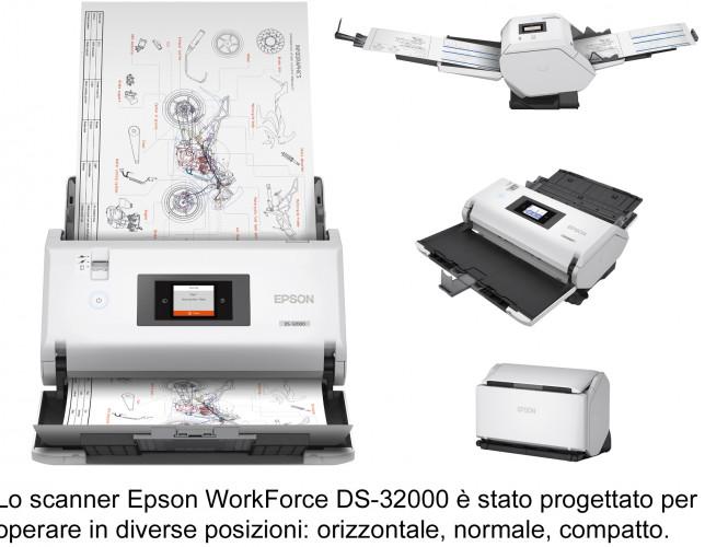 Epson amplia la gamma di scanner con i modelli A3 per rispondere alle crescenti esigenze di digitalizzazione delle aziende