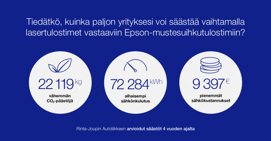 Epsonin älykkyys ja helppous vakuuttivat Rinta-Joupin Autoliikkeen
