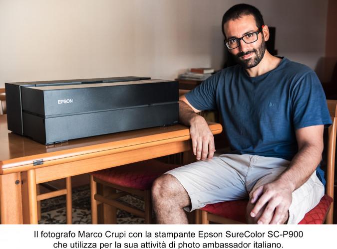 """Marco Crupi è il photo ambassador italiano  nella campagna Epson """"This is my truth"""""""