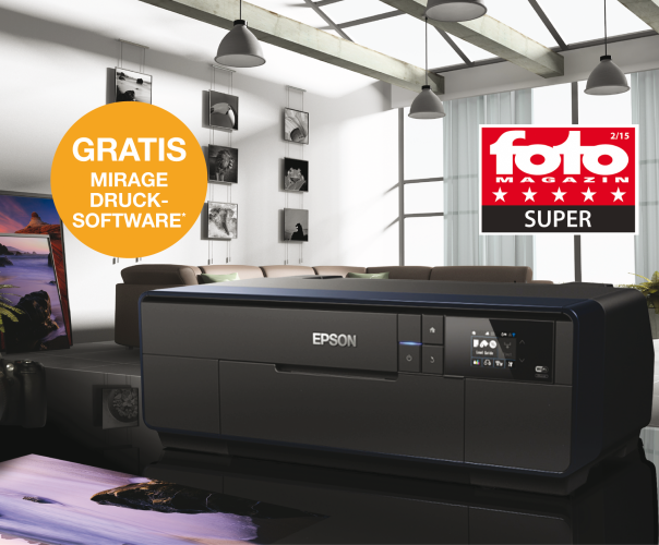Epson SureColor SC-P600 mit Inkjet-Software Mirage Small Studio Edition