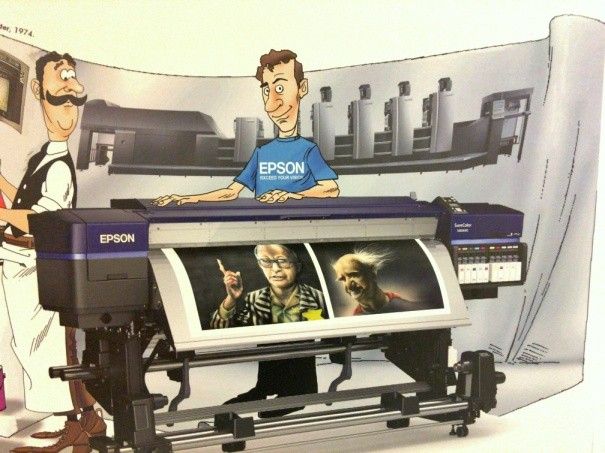 Epson מככבת בהדפסת ענק המתארת את ה״הסטוריה של הדפוס״ - בתערוכה של הקריקטוריסט שלמה כהן