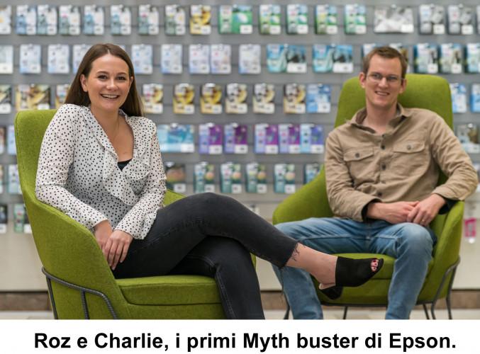 """Epson nomina due """"Mythbuster"""" con il compito di sfatare i pregiudizi sulle stampanti inkjet"""