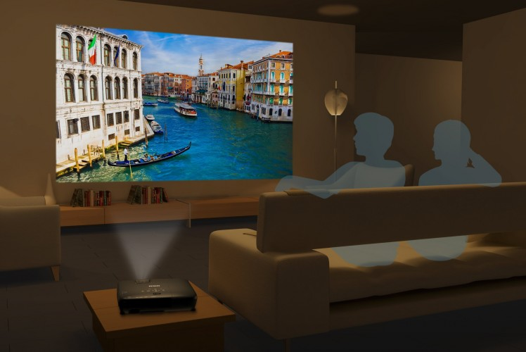 Portabler Epson 720p-Projektor für 2D und 3D