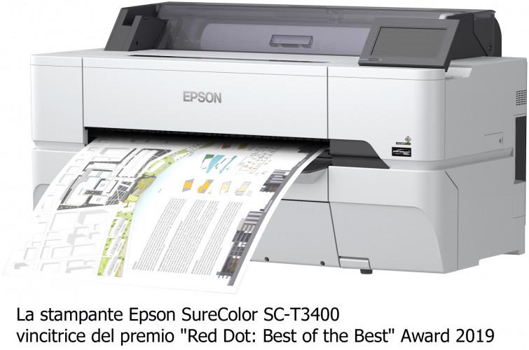 "Le stampanti Epson SureColor SC-T3400 e SC-T5400 vincono il primo ""Red Dot: Best of the Best"""