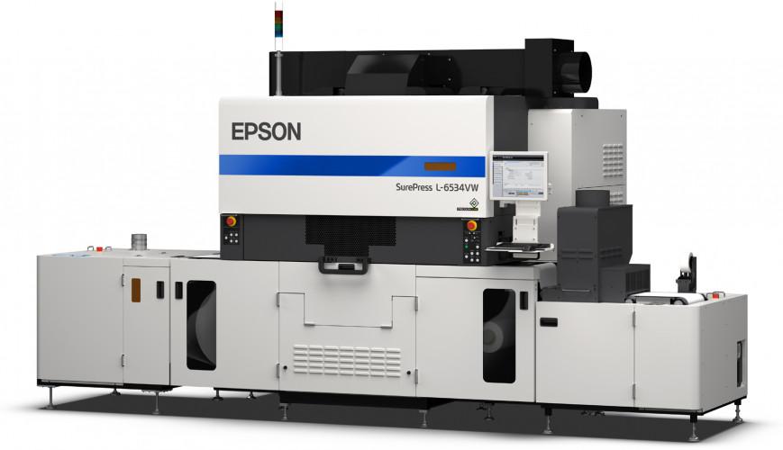La nuova Epson SurePress L-6534VW  stampa fino a 50 metri al minuto di etichette
