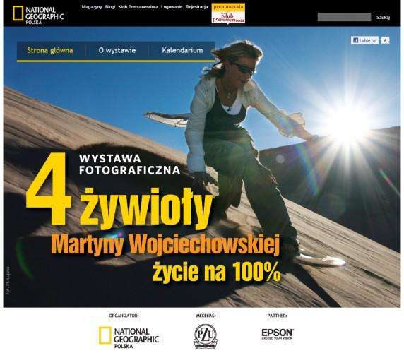 Epson zaprasza na wystawę 4 żywioły Martyny Wojciechowskiej - życie na 100%