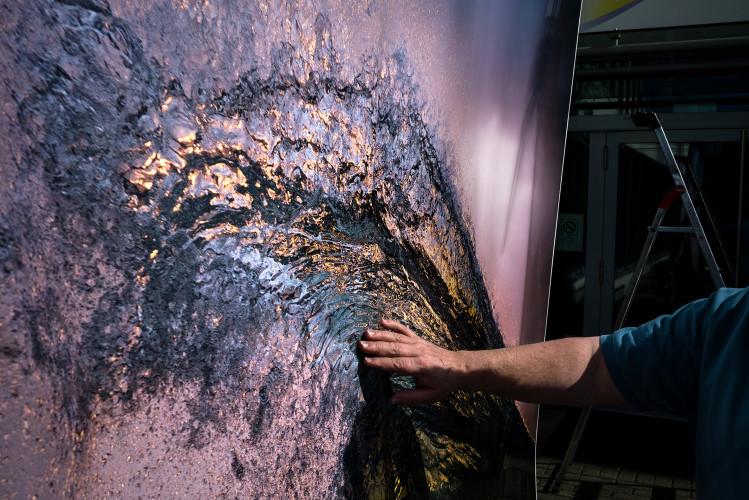 Making Of: Druck der Ausstellung des australischen Fotograf Ray Collins bei Epson in Meerbusch