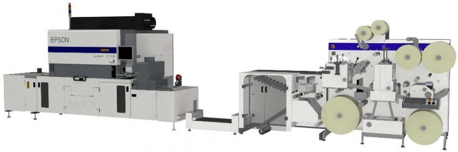 Epson's SurePress L-6534VW in inline combination with GM DC330 digital finishing offers high efficiency in print production.