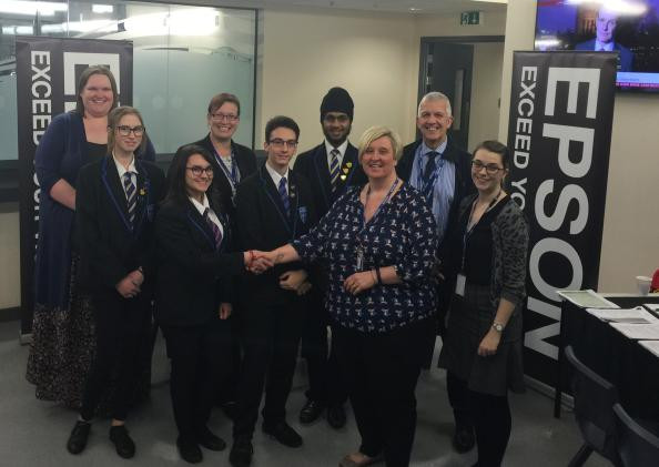 The Telford Priory School and Epson Telford partner up to join Business Class as part of the Business in the Community programme