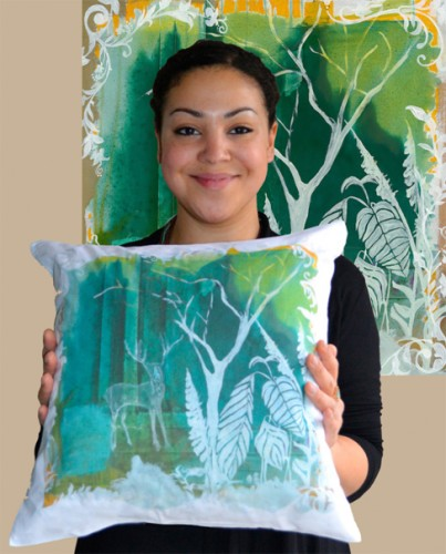 Epson teams with up and coming textile designer to print cushion covers 'to-order' at Heimtextil
