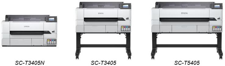 Epson lance de nouvelles imprimantes grand format les SureColor SC-T3405N, T3405 et SC-T5405
