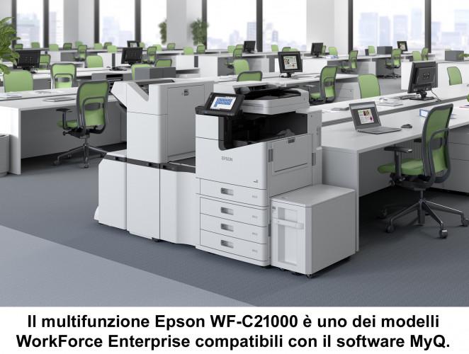 La partnership Epson-MyQ semplifica l'integrazione e la gestione delle flotte di stampanti multivendor