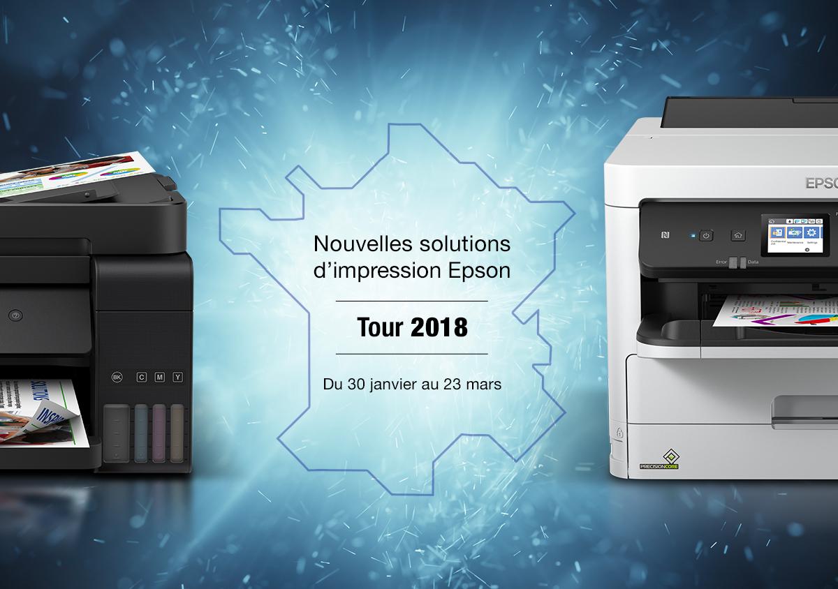 Epson Solution Tour 2018 : 30 janvier au 23 mars : nouvelles gammes EcoTank & WorkForce Pro - Grossistes et OER