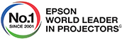 No.1 since 2001 - Epson world leader in Projectors
