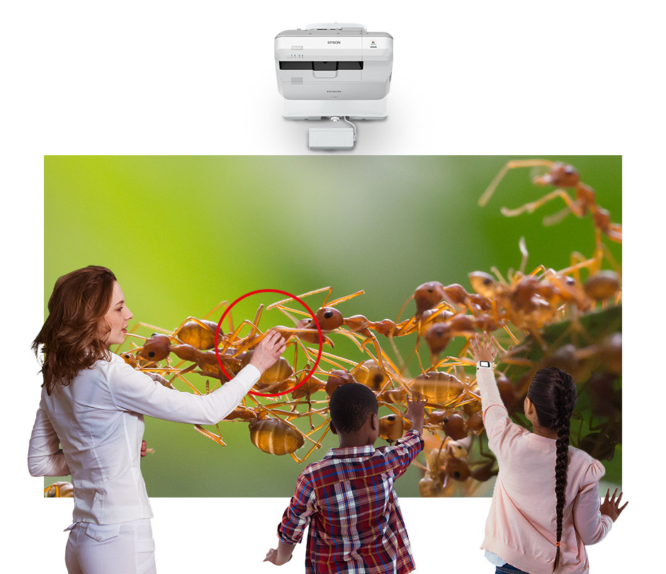 Epson EB-710Ui - WUXGA 1080p 3LCD Projector with Speaker - 4000 lumens - bring classroom to life