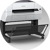 close up of the epson SC T3400 paper holder