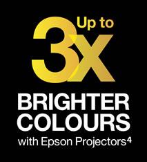 99% zegt dat Epson-projectoren de meest levendige kleuren hebben¹