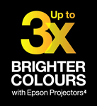 Up to 3x Brigher Colours with Epson Projectors¹