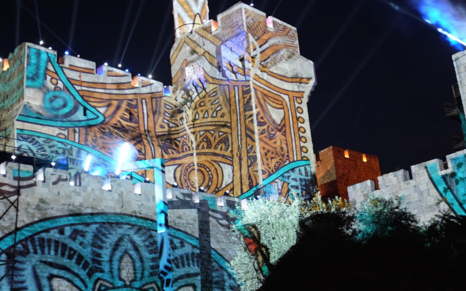 Epson teams up with AVS to project a huge light show onto the walls of the Old City of Jerusalem