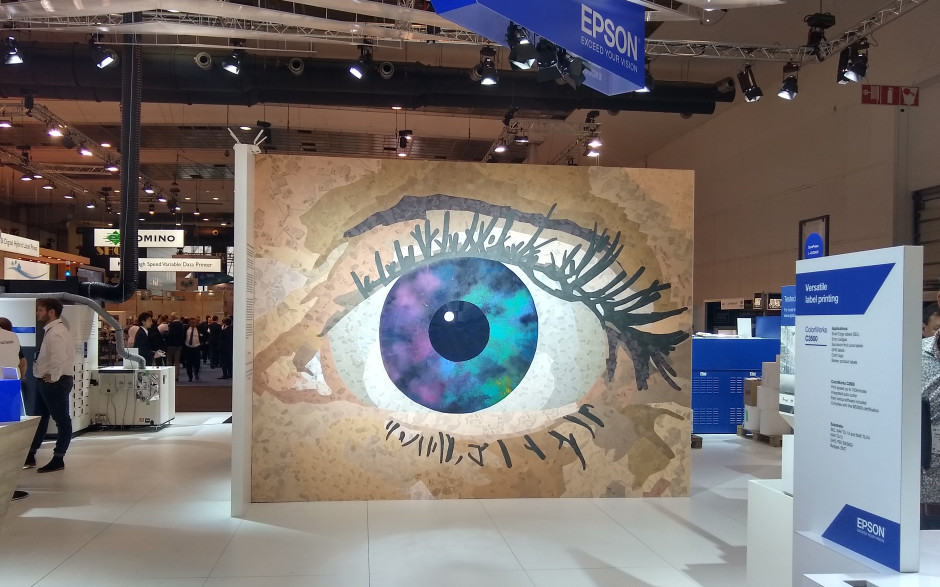 "Epson presenterar vägginstallationen ""Exceed Your Vision"" på Labelexpo 2019"