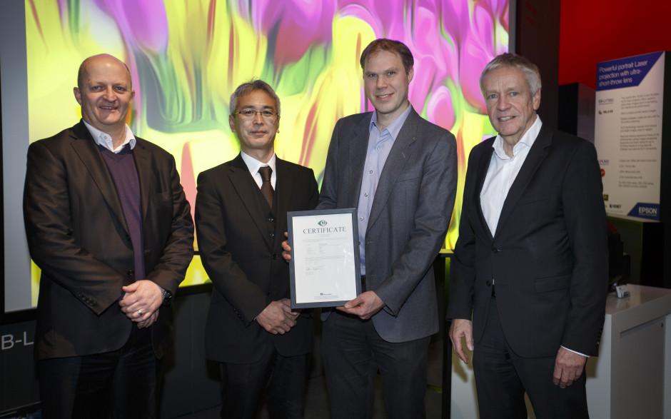 45 Epsons bildvisningsprodukter bär numera hållbarhetsmärkningen TCO Certified